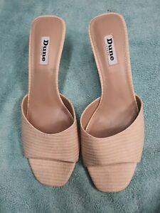 Dune Marnie Kitten Heel Slip On Shoes uk7