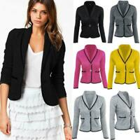 Women OL Blazer Suit Ladies Long Sleeve Slim Fit Casual Jacket Coat Outwear Tops