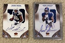 2012 PANINI CROWN ROYALE JERREL JERNIGAN / VINCENT BROWN RC AUTO CARD LOT /50!!