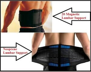 Back Belt / Brace, Lower Back Pain Relief Lumbar Support, Double Pull Neoprene