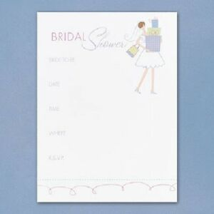 Bride with Gifts Bridal Shower Fill-in Invitations 25/pk