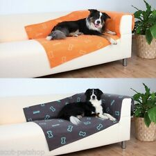 FLEECE BLANKET FOR LARGE AND SMALL DOGS IN TWO SIZES AND COLOURS TAUPE OR ORANGE