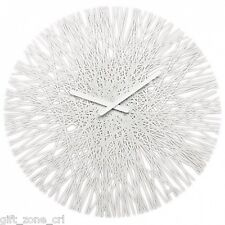 "Koziol SILK WALL CLOCK Modern LARGE 18"" 45cm CLOCK - WHITE"