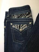 Miss Me Womens Embellished Studded Denim Boot Cut Leg Jeans Sz 27 JP5351B