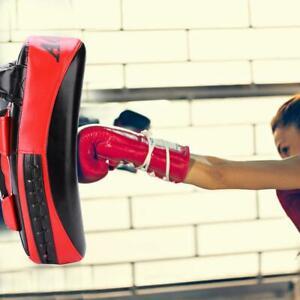 Muay Thai Boxing Kicking Curve Pad Hand Feet Target Punching Training Shield New