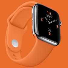 Series 5 Hermes Apple Watch 44mm 24k Gold Plated Orange Sport Band