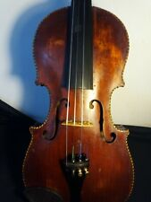 old hand made violin with purfling