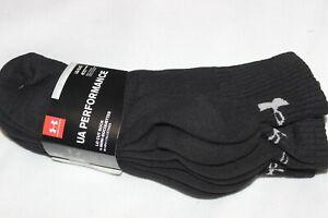 Under Armour Men's Performance Cotton Black Low Cut Sport Socks Bonus 4-Pack