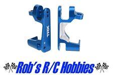 Traxxas 6832x Slash 4x4 Front Aluminum Blue Anodized Castor Blocks Set C-Hubs