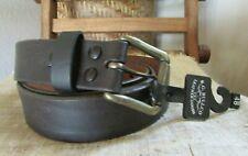 NEW R.G. BULLCO LEATHER GOODS 48 BLACK FULL GRAIN LEATHER BELT, Made in USA
