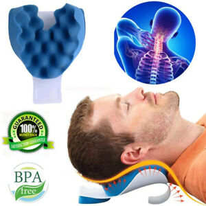Cervical Spine Massage Pillow Neck And Shoulder Relaxer Pain Relief Support UK