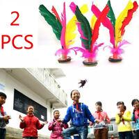 2Pc Colorful Chinese Jianzi Feather Kick Shuttlecock Portable