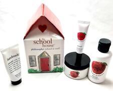 Philosophy SCHOOL HOUSE Apple A Day Shower Gel, Souffle, Lemon hand & Lip Shine