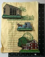 Shelia's Collectible Wood House Ledge Sitters Amish Trio 3-Set Daisy Connection