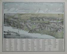 Original 1893 Map BIRD'S-EYE-VIEW HOLY LAND Jerusalem Damascus Beirut Bethlehem