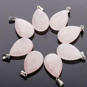 25pcs Charms water drop teardrop natural crystal stone pendant for jewelry makin