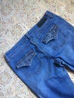 Seven7 Women's Designer Blue Jeans Size 10 Boot Cut Ladies Casual Pants Western