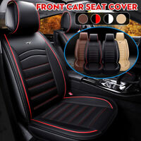 Luxury PU Leather Front Car Seat Cover Cushions Protector Back Support SUV Van