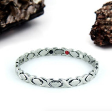 Authentic Pur life Negative Ion Bracelet ELEGANT STAINLESS STEEL LEAF PURLIFE