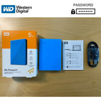 WD My Passport External Hard Drive Disk USB 3.0 5TB encrypted mobile hard disk