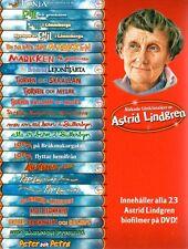 23 (!!!) DVD Box Astrid Lindgren SCHWEDISCH,Älskade Filmklassiker (Pippi Emil ..