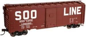 ATLAS 21000045 HO TRAINMAN '37 AAR BOX CAR KIT SOO LINE