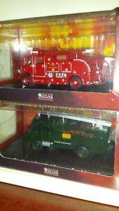 """Atlas Editions - AEC Regent lll & Bedford RLHZ """"Green Goddess"""" Fire Engines"""