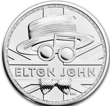 2021 Great Britain ELTON JOHN Music Legends coin 1 oz .999 silver #2 in series