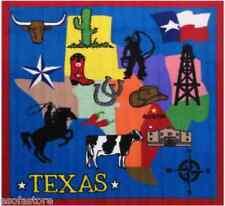 "Rugs Area Rugs 100% Nylon Carpet Fun Time 51""x51"" Size Texas Multi-Color Rug"