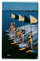 Postcard Water Skiing Scene from MGM Prod Easy to Love FL Cypress Gardens J50
