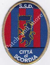[Patch] CITTA' DI SCORDIA CALCIO scudetto cm 7 x 9,5 toppa ricamo REPLICA -1023