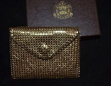 Vintage Evans Elegance Change Purse, Gold Mesh, NOS, Tags and Original Box!