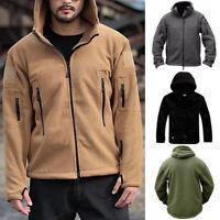 1x Tactical Military Fleece Men Hooded Jacket Coat Casual Zipper Hoodies Outwear