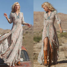 c952d133c9 Women Summer Boho Chiffon Party Evening Beach Dresses Long Maxi Dress  Sundress I