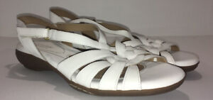 Naturalizer N5 Comfort Ladies Convey White Leather Comfort Shoe Sandal Size 9.5M