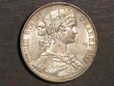 GERMANY-FRANKFURT 1860 1 Thaler Silver UNC