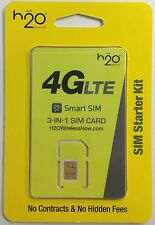 USA SIM Card - H2O Wireless Triple SIM on the AT&T Network in America