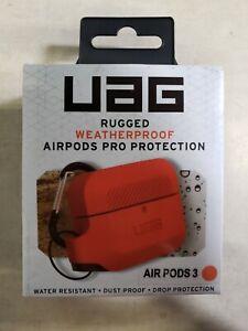 Urban Armor Gear Soft Silicone Weatherproof Case for Airpods Pro - Orange/Black