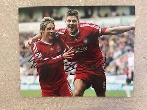 Genuine Signed Liverpool Picture By Steven Gerrard & Fernando Torres