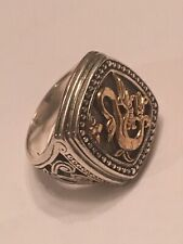 Konstantino Silver/18K Yellow Gold Dragon Ring Size 6