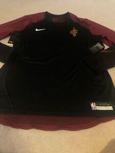 New Nike Men's Cleveland Cavaliers NBA Warmup Longsleeve Shirt Size 2XL Tall