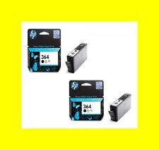 2 Original Cartridge Hp 364 Black Deskjet 3070A 3520 Officejet 4620 4622 New