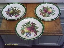 """Vintage ROCHARD LIMOGES France  Fruits Dessert Cake 3 Plates_7-1/4"""""""