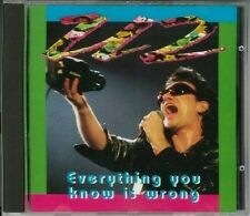 U2 Everything You Know Is WrongCD Live WOT 1001 Why Not 1992 RARE silver disc