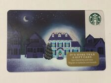 """2017 STARBUCKS CHRISTMAS """"LIGHTED HOUSE"""" GIFT CARD #6142 MINT NO VALUE"""