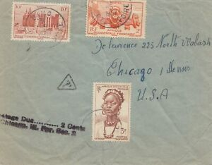 French Colonies: Ivory Coast 1957 Divo A Chicago/Ee.uu., Titular: Due