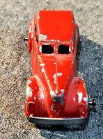 Vintage Tootsietoy 1940 LaSalle Red, Black Tires, Sedan Car 4 Door DieCast #9