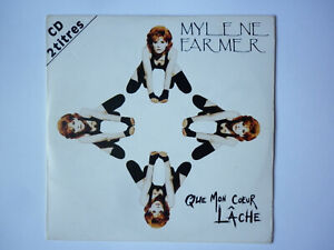 Mylene Farmer cd single Que Mon Coeur Lâche