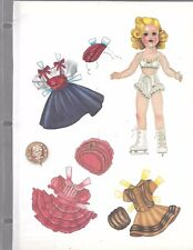 Sonja Henie Doll Reader Magazine Paper Doll October 1988 by Lee Collins Uncut