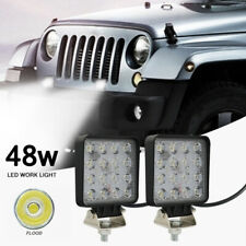 2X 48W LED work lights offroad car truck tractor ATV UTV Trailer Boat La PJW